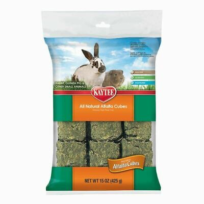 Kaytee Natural Compressed Alfalfa Cubes Food for Small Animals 15 ounces