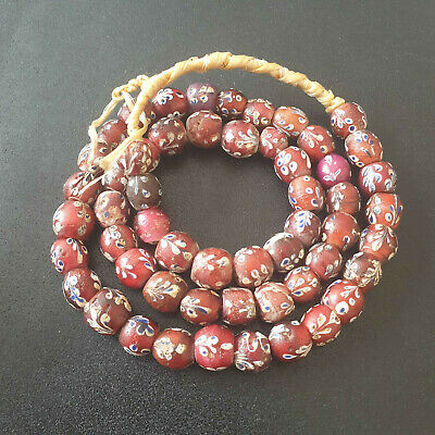 Vintage  Glasperlen antik Old Venetian Trade - Beads Flower Beads Murano Italy