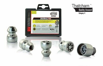 Hyundai i30 2007-on HEYNER wheel locking nuts M12x1.5 Thatcham assured