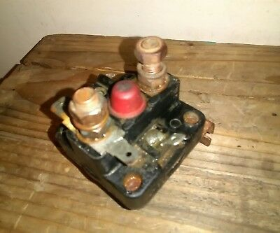 Classic Car Starter Solenoid Lucas 4 ST 76766E 12v, with red start button. Rare
