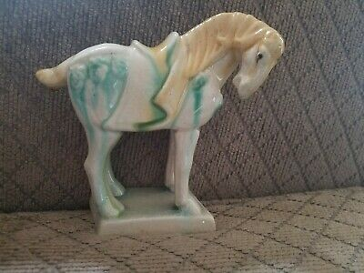 Rare Vintage Toyo China Tang Dynasty Style Porcelain Horse Figurine