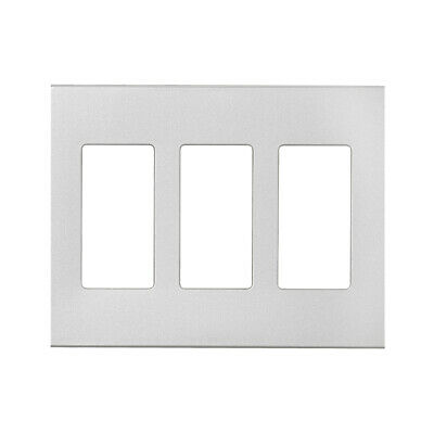 Cooper Wiring PJS263SG-SP-L 3 Gang Decorator Mid Size Screwless Wall Plate, Silv