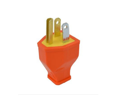 Cooper Wiring BP3990 3 Wire Grounded Cord Plug, Orange