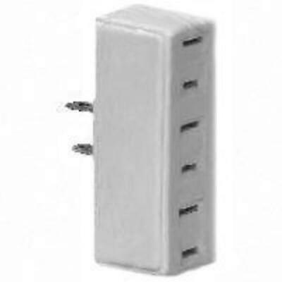 Cooper Wiring BP1747W 3 Outlet 2 Wire Tap And Adapter