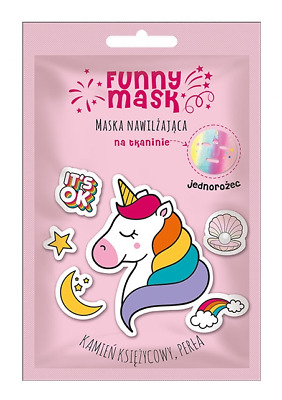 Marion Funny Mask Moisturizing Cloth Face Mask Unicorn
