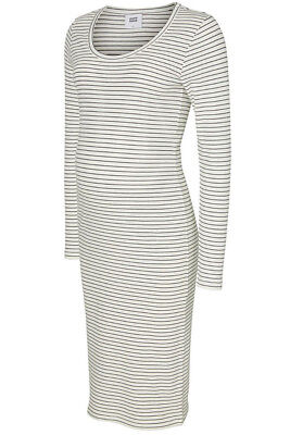 c9733871f3 MAMALICIOUS LADIES MATERNITY Striped Knitted Jumper Dress White   Black  Stretch - EUR 23