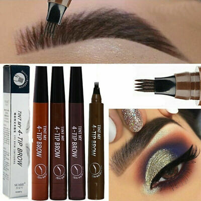 Eyebrow Tattoo Pen Waterproof Fork Tip Patented Microblading Makeup Ink Sketch