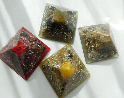 Large Pyramids Crystal Orgone Generators Energy=Life+LOVE! All Colors !!!!!