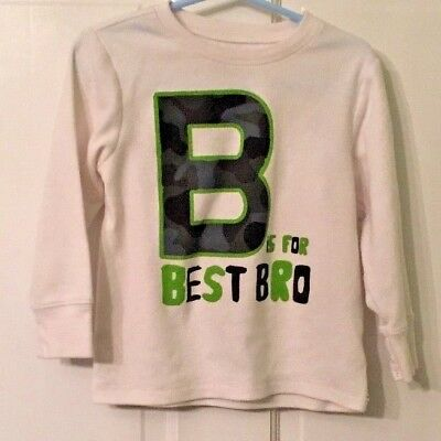 Boy's Children's Place Size 3T Best Brother long sleeved waffle shirt