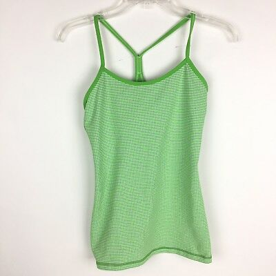 74553c2734511b Lululemon Womens Power Y Tank Top Built in Sports Bra Athletic Green Size 6  Yoga