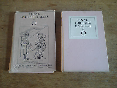 Final Forensic Fables. By O. First edition 1929 (Hardcover)