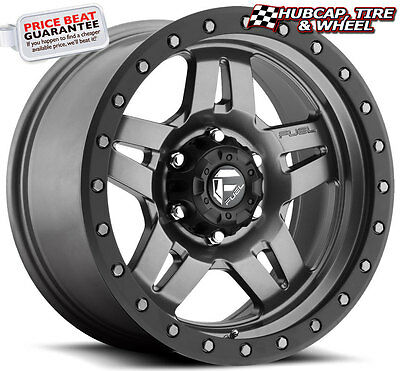 BLEMISHED SINGLE 17X8 5 Gray Wheel Fuel Anza D558 5x5 -6