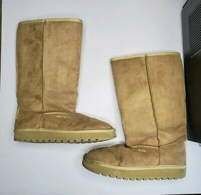 discount price search for newest promotion WOMEN'S SKECHERS OUTDOOR Tan Tall Winter Boots Size 8 euc ...