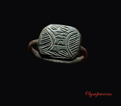 ** VERY FINE ** III-IV Century AD Ancient Roman Bronze  ring