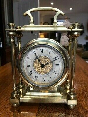Large Antique Brass Carriage/Mantel Clock