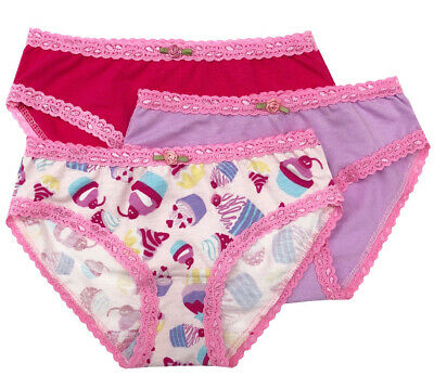Esme Girls Comfortable Underwear XS 2-3 Panty Fuchsia Burst clearance