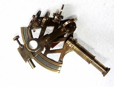 Antique Solid Brass Working Sextant Handmade Nautical Astrolabe Navigation Gift