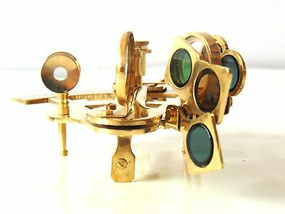Solid Brass Shiny Sextant Handmade Astrolabe Desk Navigation Sextant Decorative