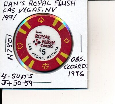 GOLD STRIKE $5 CASINO  CHIP  1996 CHRISTMAS /& 1997 NEW YEAR OBS.
