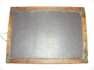 19thC School Writing Slate (INSCRIBED BY CHILD 1845) Thomas Ambrose, Cambridge
