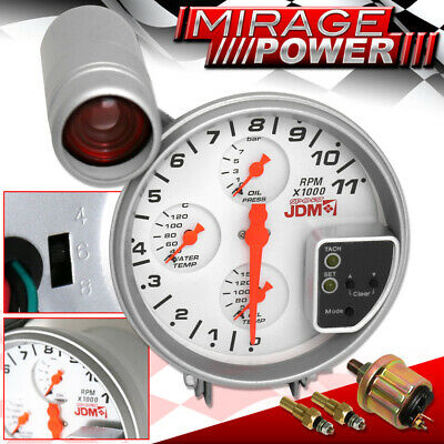 "For Ford Engine Motor Rpm Tachometer 5"" Gauge Cluster Water Oil Temp Pressure"