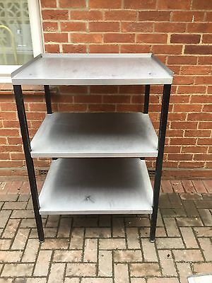 Commercial Stainless Steel Shelving Unit 3 Tier heavy duty On Adjustable Feet