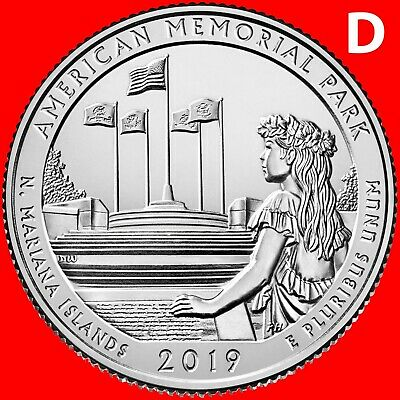 2019-D American Memorial Park (N.mariana Islands) Uncirculated Quarter