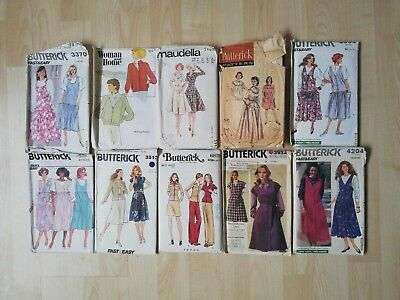 Job Lot Of 10 Vintage Sewing Patterns - Unchecked Bundle 2
