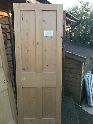 Stripped Pine Victorian 4 Panelled Door