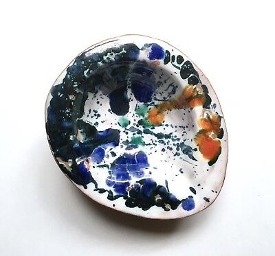 Impressive 1946 Modernist Studio Pottery Bowl / Ashtray, Mystery Artist Signed