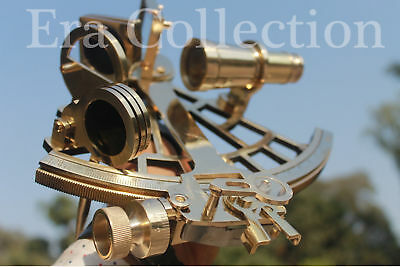 "Nautical 9"" Marine Ship Instrument Astrolabe Brass Sextant By Masco-Nauticals"