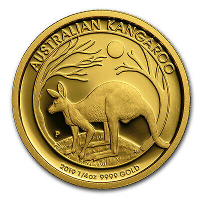 2019 Australia 1/4 oz Gold Kangaroo Proof - SKU#189965