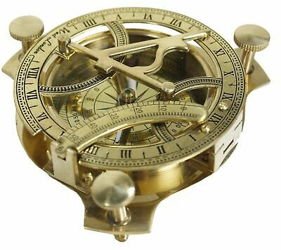 Solid Brass Sundial Compass Maritime Vintage West London Compass -Masco Nautical