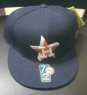 best loved cfafa fe256 Cooperstown Collection Houston Astros Baseball MLB 7 5 8 Fitted Hat