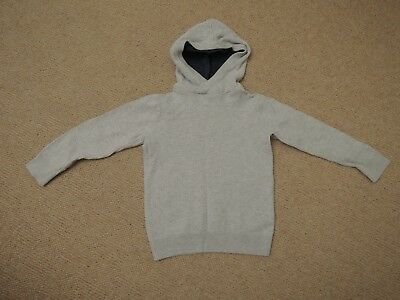 Next Boys Knitted Stone / Cream 100% Cotton Warm Jumper / Hoodie 4 Years