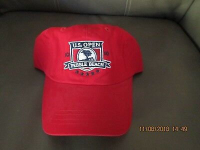 2010 US Open Golf Tournament Hat Cap - Pebble Beach - Washed Twill Red NWT