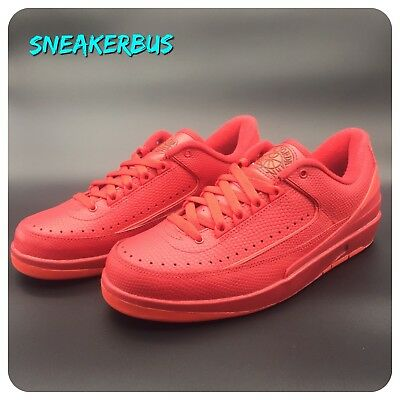 low priced aba67 c8e36 NIKE Air Jordan 2 Retro Low in University Red Leather UK 7 EUR 41