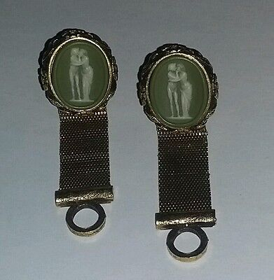 Vintage Signed Dante Cufflinks The Kiss Masterpiece Collection 60's Rare
