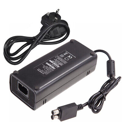 UK Plug For Xbox 360 Slim AC Brick Adapter Power Supply 135w Mains Charger Cable