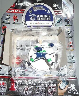 """BROCK BOESER Vancouver Canucks SILVER 2.5"""" Series 4 NHL Imports Dragon Toy LOOSE"""