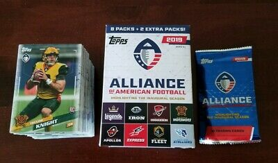 2019 Topps Alliance of American Football AAF (175 card) COMPLETE SET - In Hand!