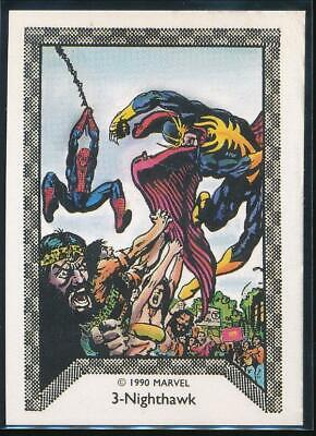 1990 Marvel Spider-Man Team-Up Trading Card #3 Nighthawk