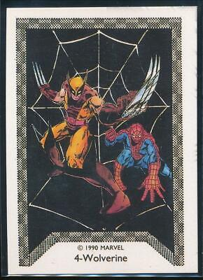 1990 Marvel Spider-Man Team-Up Trading Card #4 Wolverine