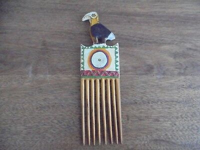 Collectable Old Vintage Papua New Guinea Wood Hair Comb