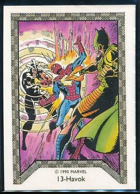 1990 Marvel Spider-Man Team-Up Trading Card #13 Havok
