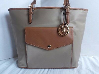 675e9590703a Michael Kors Jet Set Item Nylon Dusk Large Satchel Tote Shoulder Handbag  New 228