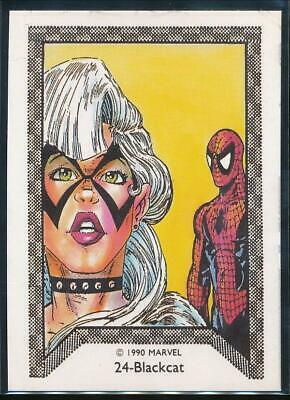 1990 Marvel Spider-Man Team-Up Trading Card #24 Blackcat