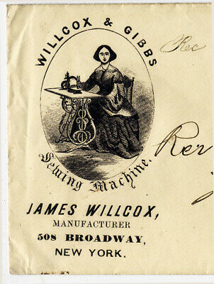 Willcox & Gibbs sewing-machine illustrated postage envelope 1861