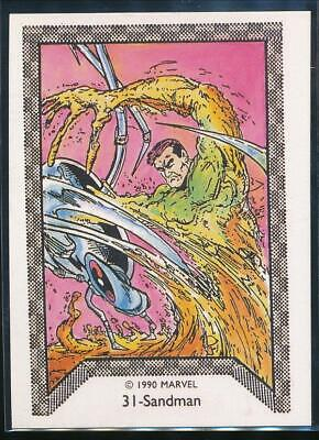 1990 Marvel Spider-Man Team-Up Trading Card #31 Sandman