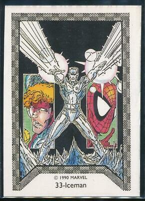 1990 Marvel Spider-Man Team-Up Trading Card #33 Iceman